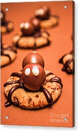 Halloween Homemade Cookie Spiders Acrylic Print by Jorgo Photography - Wall Art Gallery