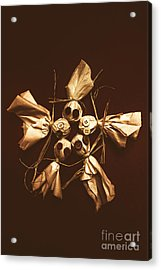 Halloween Horror Dolls On Dark Background Acrylic Print by Jorgo Photography - Wall Art Gallery