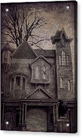 Halloween In Old Town Acrylic Print