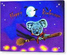 Halloween Koala, Happy Koalaween Acrylic Print