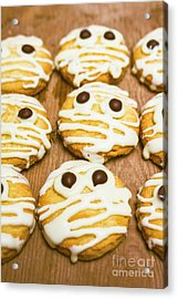 Halloween Little Monster Biscuits Acrylic Print by Jorgo Photography - Wall Art Gallery