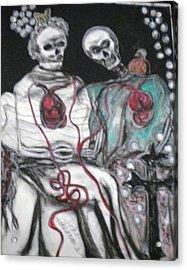 Halloween Love Acrylic Print by Victoria Hasenauer