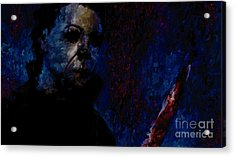 Halloween Michael Myers Signed Prints Available At Laartwork.com Coupon Code Kodak Acrylic Print by Leon Jimenez