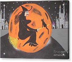 Acrylic Print featuring the painting Halloween Night At Disneyland by Jeffrey Koss