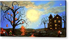 Halloween Night Two Acrylic Print by Ken Figurski
