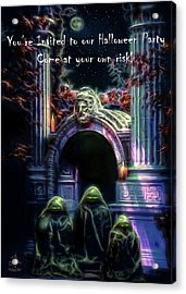 Halloween Party Invitation - The Gate Keeper Acrylic Print
