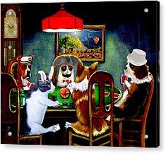 Halloween Poker Acrylic Print