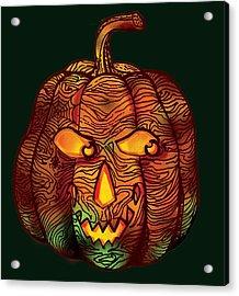Halloween Pumpkin Acrylic Print by Irina Effa