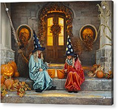 Acrylic Print featuring the painting Halloween Sweetness by Greg Olsen