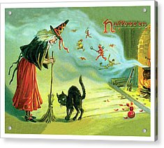 Halloween Witchcraft Acrylic Print