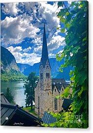 Hallstatt Church Acrylic Print