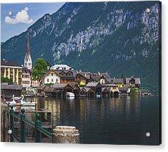 Hallstatt Lakeside Village In Austria Acrylic Print