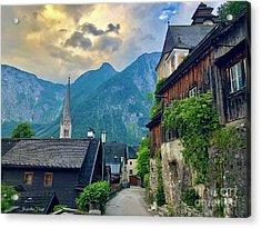 Hallstatt Village Stroll Acrylic Print