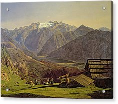 Hallstatter See Acrylic Print by Ferdinand Georg Waldmuller