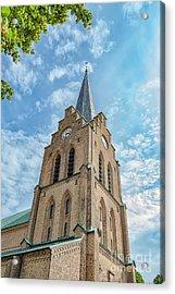 Acrylic Print featuring the photograph Halmstad Church In Sweden by Antony McAulay