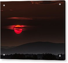 Haloed Sunset Acrylic Print