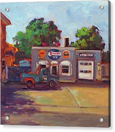Hal's Garge Acrylic Print by Nora Sallows