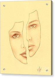 Halves Acrylic Print by Enaile D Siffert