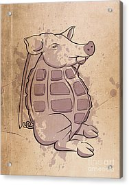 Ham-grenade Acrylic Print by Joe Dragt