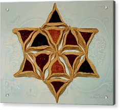 Hamantaschen Star Of David Acrylic Print by Brian Tada