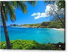Hamao Beach With Palm Tree Acrylic Print