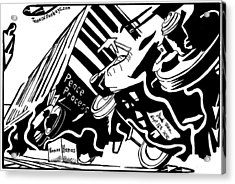 Hamas And The Peace Train By Yonatan Frimer Acrylic Print by Yonatan Frimer Maze Artist