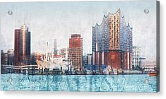 Acrylic Print featuring the photograph Hamburg Abstract by Marc Huebner
