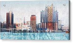 Hamburg Abstract Acrylic Print by Marc Huebner