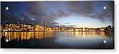 Hamburg Alster Christmas Time Acrylic Print by Marc Huebner