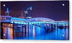 Acrylic Print featuring the photograph Hamburg Blue Port 2015 by Marc Huebner