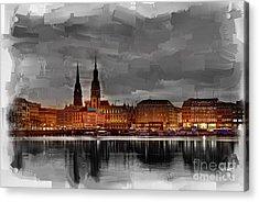 Hamburg Germany Skyline 01 Acrylic Print