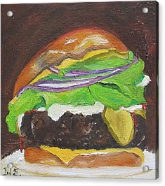 Hamburger Heaven Acrylic Print by Irit Bourla