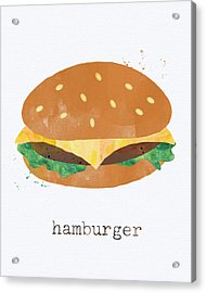 Hamburger Acrylic Print by Linda Woods