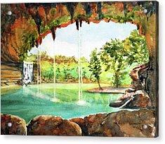 Hamilton Pool Texas Acrylic Print