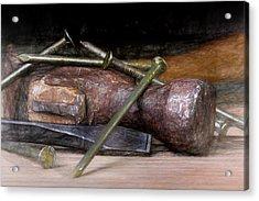 Hammer And Nails Acrylic Print