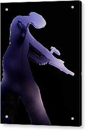 Hammering Man 2 Acrylic Print by Tim Allen