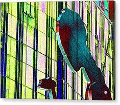 Hammering Man 3 Acrylic Print by Tim Allen