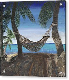 Hammock Haven Acrylic Print by Maggie  Morrison
