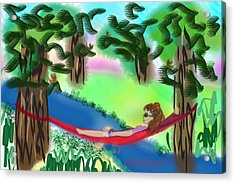 Hammock Under The Chihuahua Trees Acrylic Print