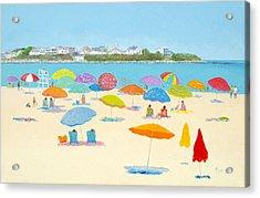 Hampton Beach Umbrellas Acrylic Print