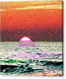 Hamriyah Sunset 2010 Acrylic Print by Mike Shepley DA Edin
