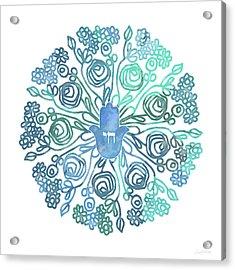 Hamsa Mandala 1- Art By Linda Woods Acrylic Print by Linda Woods