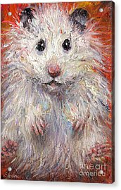 Hamster Painting  Acrylic Print