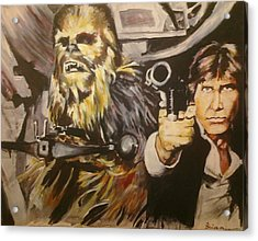 Han And Chewie Acrylic Print by Brian Child