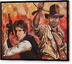 Han Solo And Indiana Jones Acrylic Print
