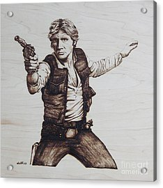 Han Solo Acrylic Print by Chris Wulff