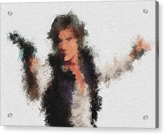 Han Solo Acrylic Print by Miranda Sether