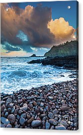 Hana Bay Pebble Beach Acrylic Print by Inge Johnsson