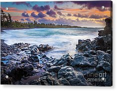 Hana Bay Rocky Shore #1 Acrylic Print by Inge Johnsson