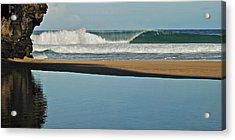 Hanakapiai Beach 1287b Acrylic Print by Michael Peychich